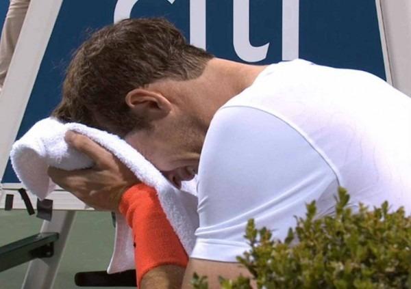 Murray desiste das quartas de final em washington