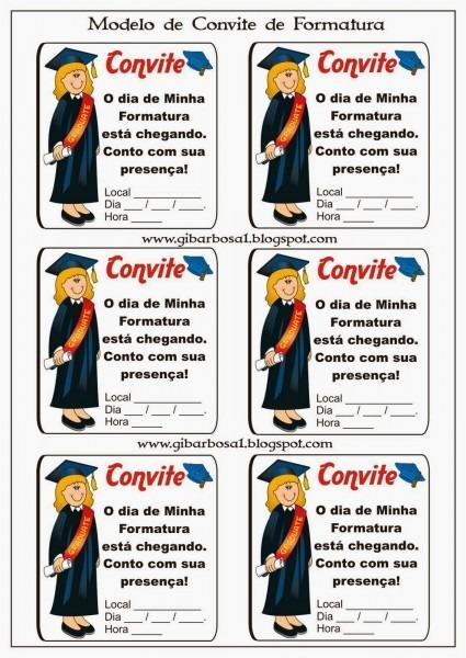Jornal r 7ª  formatura modelos de convites e diplomas