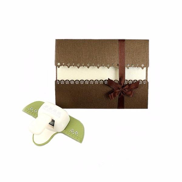 Furador scrapbook papel borda flor convite casamento