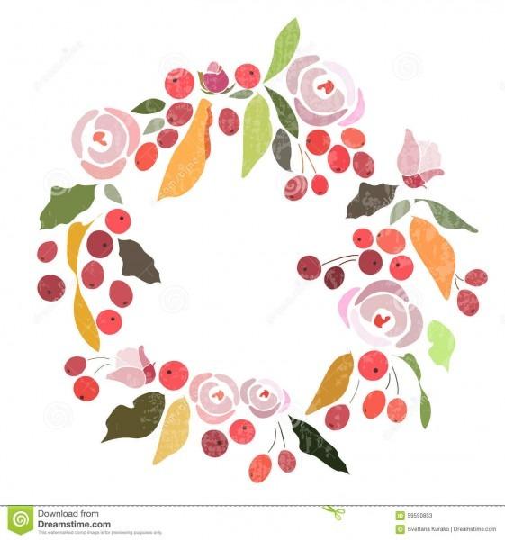Grinalda floral do casamento do outono inverno com flores