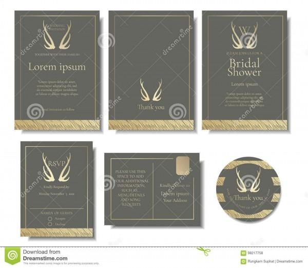 Grupo de cartão elegante do convite do casamento dourado estilo