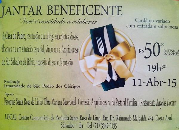 40 convites para jantar beneficente – modelos de convite