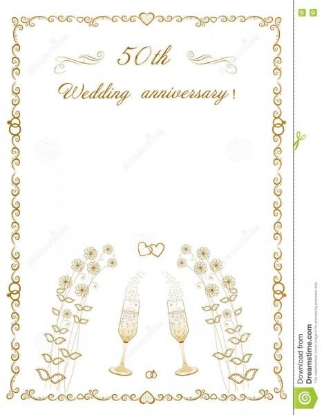Ilustração editável bonita do vetor do 50th convite do aniversário