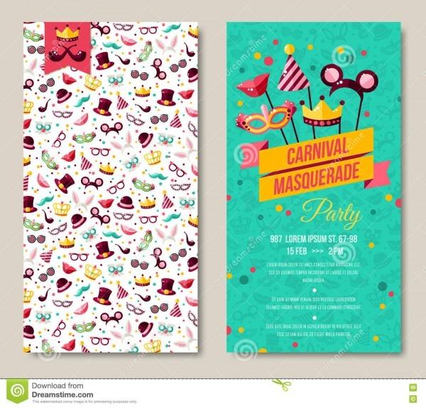 Lados cartaz, inseto ou convite do carnaval dois ilustração do