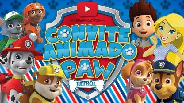 Convite animado patrulha canina grátis