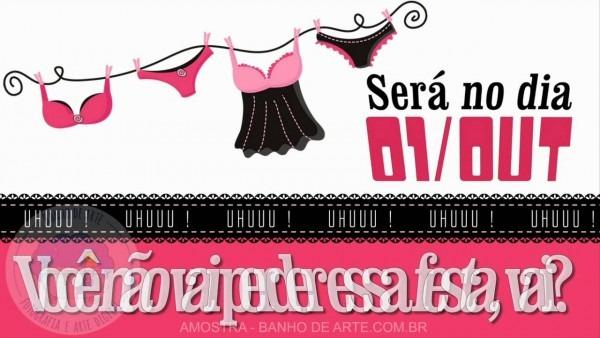 Convite virtual chá de lingerie