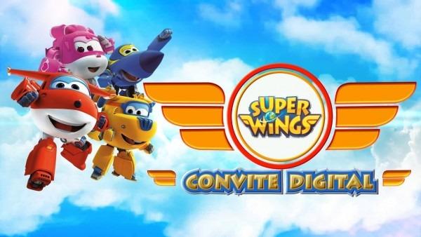 Modelo de convite digital super wings