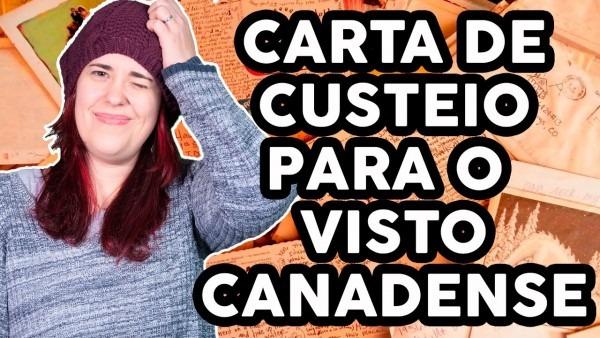 Carta de custeio para o visto canadense