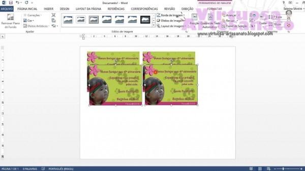 Como imprimir convite no word