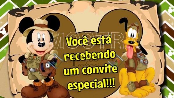 Convite virtual mickey safari!!!