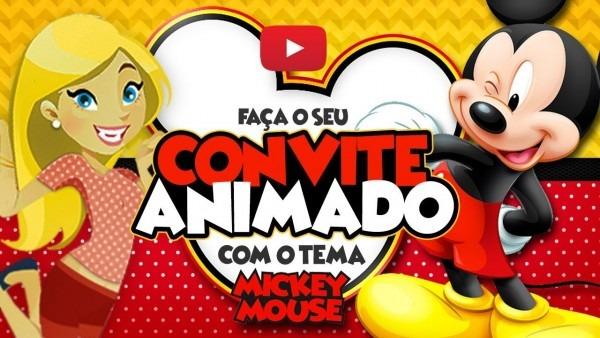 Convite animado mickey mouse grátis