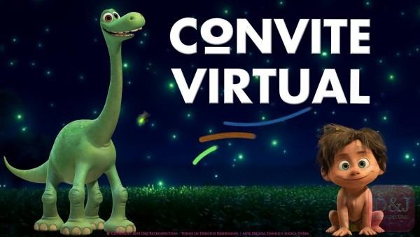 Convite virtual o bom dinossauro