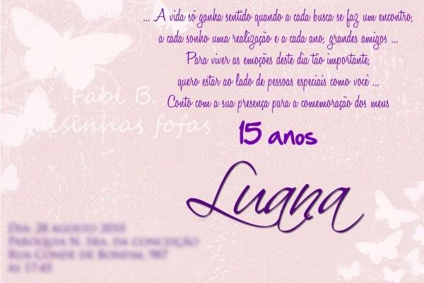 Mensagens para convite de aniversario 3 » happy birthday world