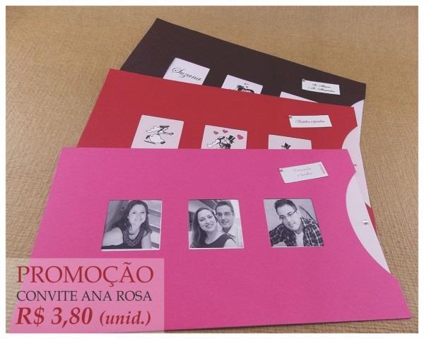 Convite casamento ana rosa no elo7