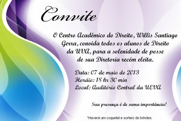 Convite de posse