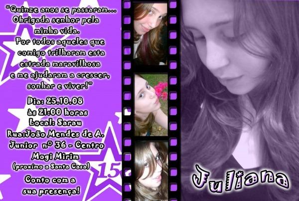 Fernanda fotógr@f@  convite de 15 anos