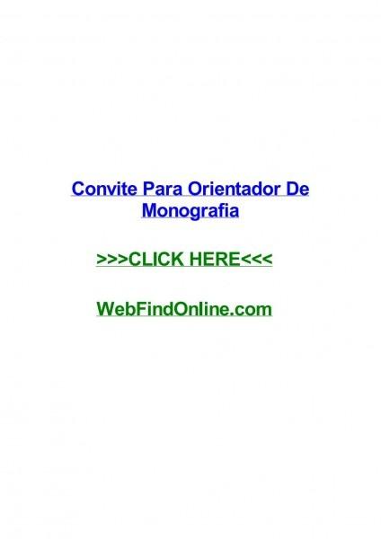 Convite para orientador de monografia by triciahfupw
