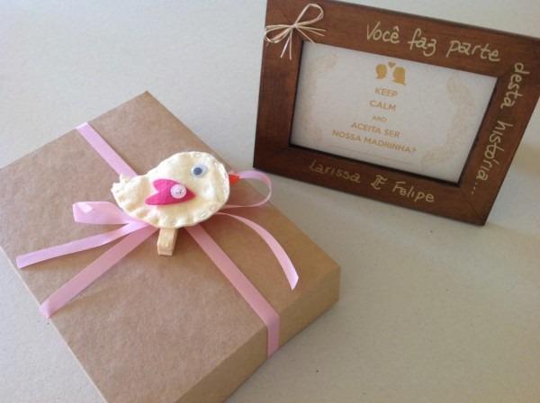 Casamento da lari  convite dos padrinhos ~ noiva sortuda