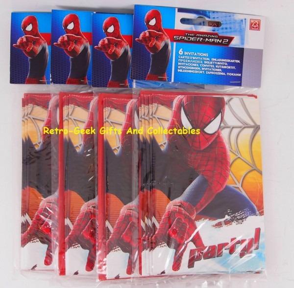 Marvel comics bundle 4 packs (24) kids party amazing spiderman 2