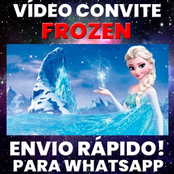 Vídeo convite animado festa  frozen disney foto p  whatsapp