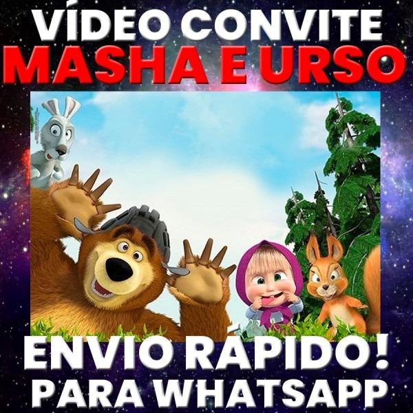 Vídeo convite animado festa  masha e o urso foto p  whatsapp