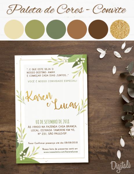 Casamento branco e verde