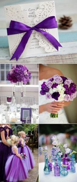 Fall purple laser cut wedding invitations ewws045