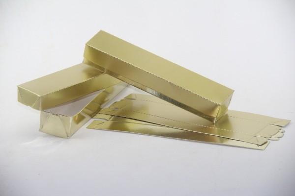 100 caixinhas para convite pergaminho dourada