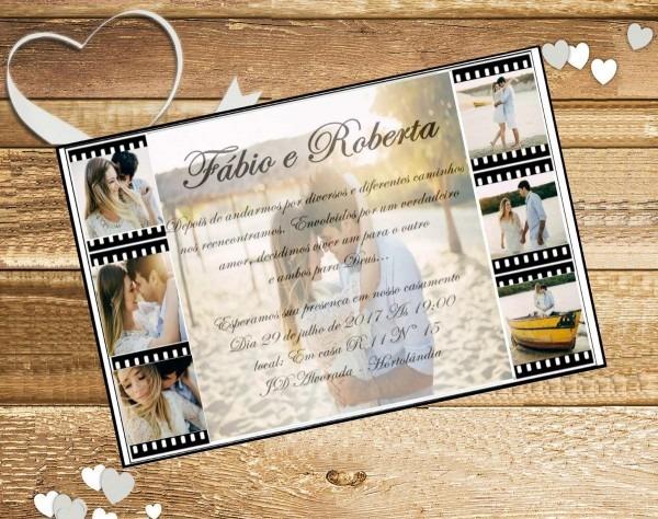 100 convites de casamento personalizado