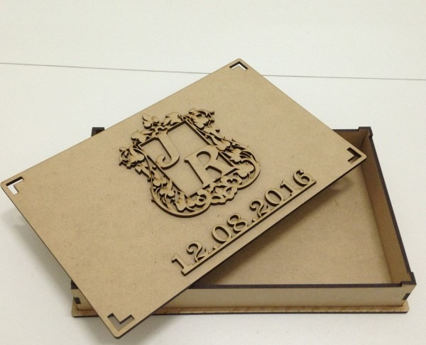 12 caixa mdf convite casamento monograma dos noivos 24x15x9