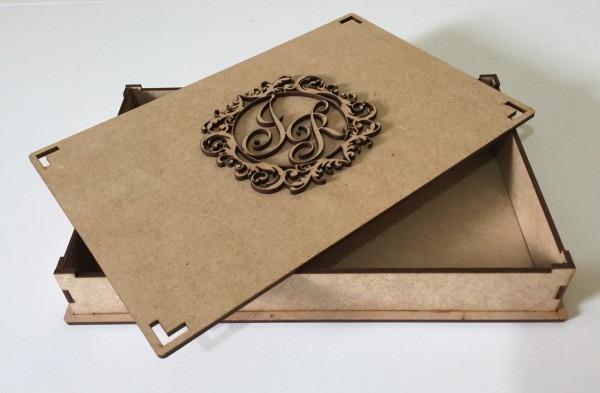 15 caixas mdf convite lembrancinha casamento brasão iniciais