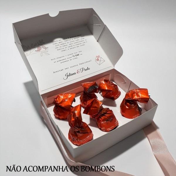16 caixas convite casamento padrinhos bicicleta com corações