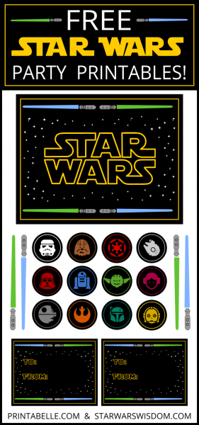 Free star wars printable party decorations