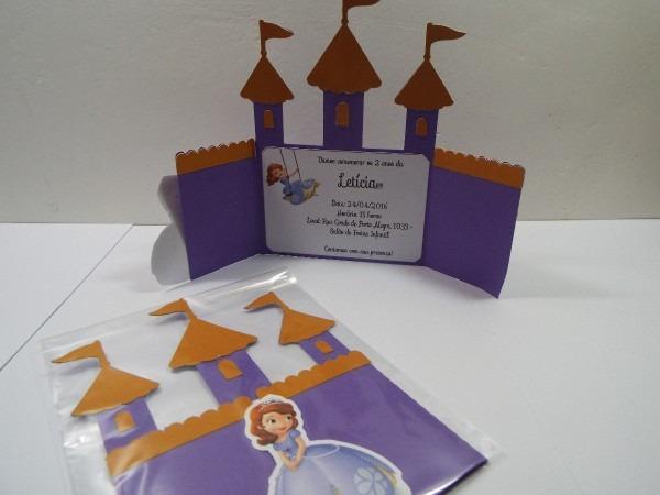 30 convite princesa sofia castelo