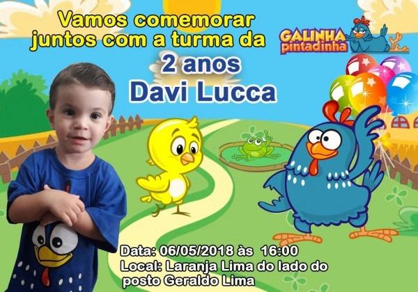 30 convites galinha pintadinha 10x15 frete grátis brasil