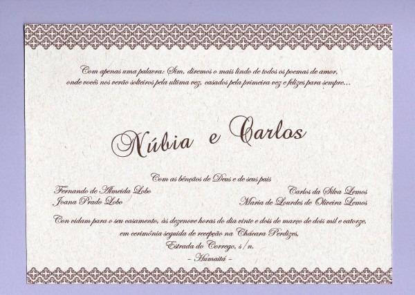 30 convites rústicos para casamento