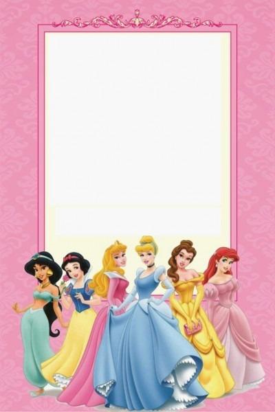 Convite princesas castelo