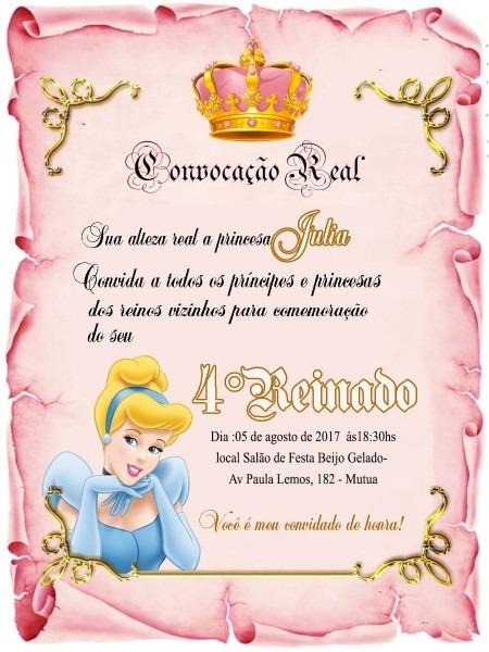 50 convites pergaminho princesa realeza ,coroa +tags