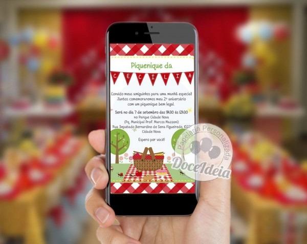 Convite digital personalizado para uso em whatsapp  informaÇÕes