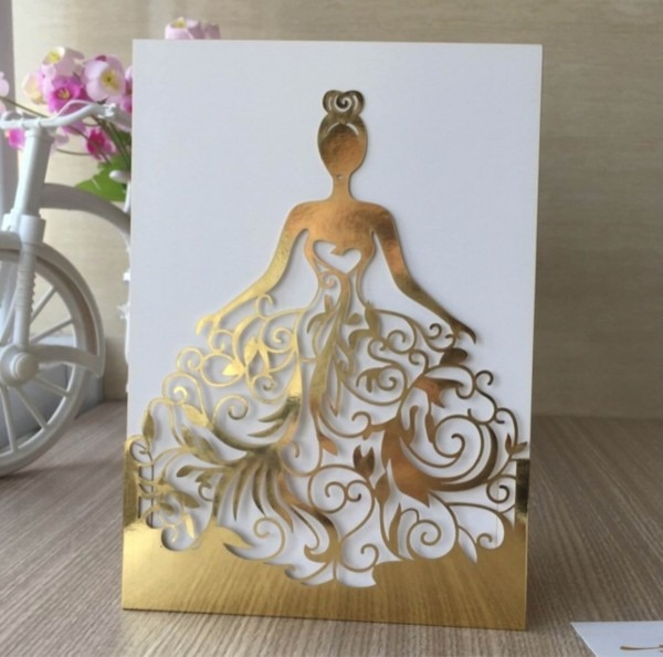 Arquivo corte convite 15 anos princesa vestido rendado no elo7
