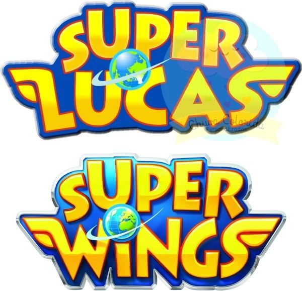 Arquivo digital logo + convite super wings