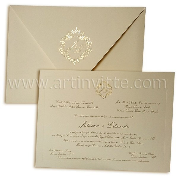 Convite de casamento veneza