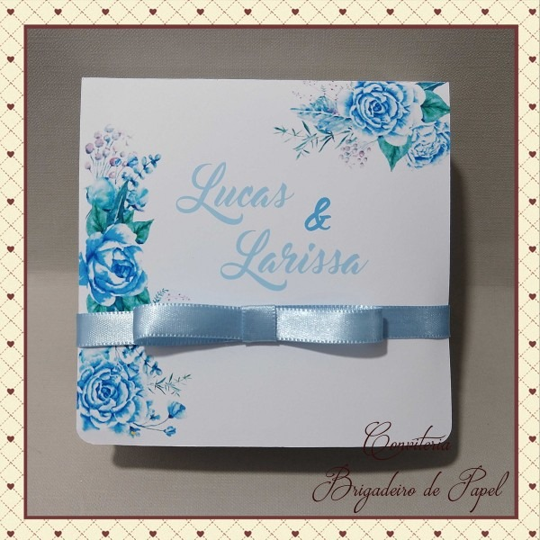 Caixa convite padrinhos casamento
