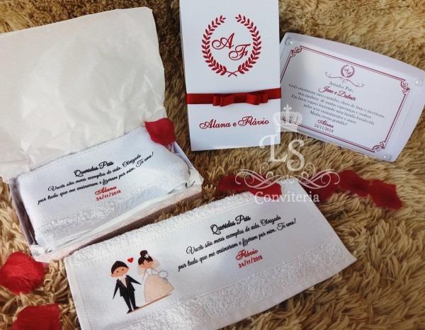 Caixa convite padrinhos e pais casamento no elo7