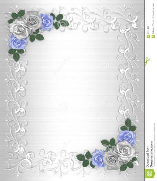 Cetim do branco da beira do convite do casamento ilustração stock