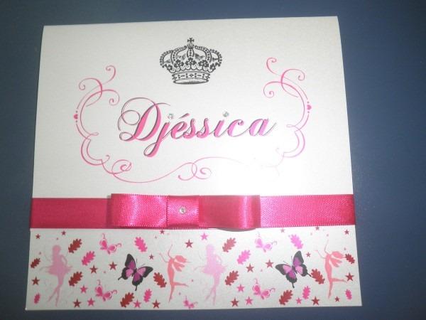 Convite 15 anos princesa djessica no elo7