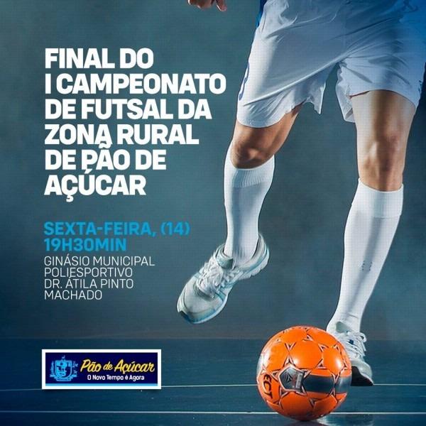 Convite – final do i campeonato de futsal da zona rural de pão de