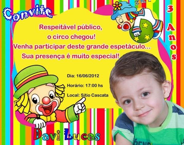 Convite de aniversário patati patatá