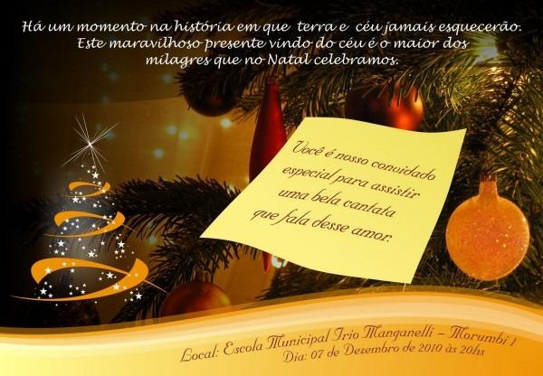 Infoirio  convite  cantata infantil da irio  milagre de natal