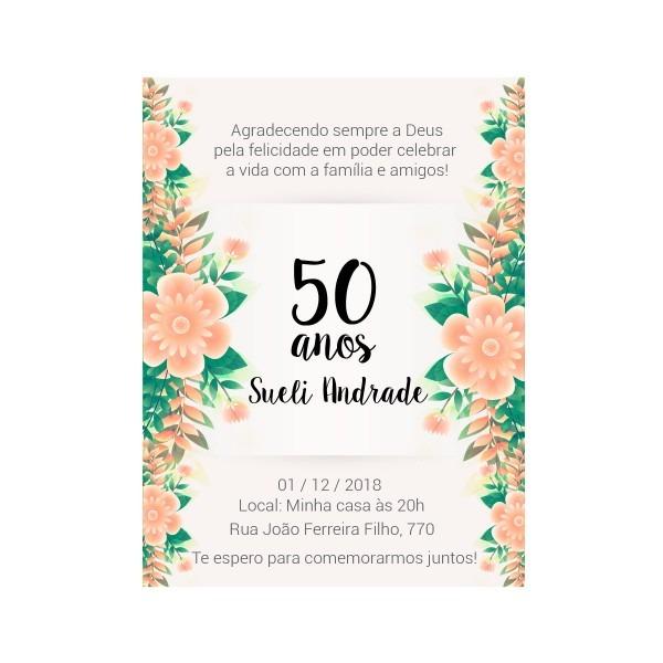 Frases para convite de aniversario de 50 anos